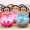 儿童防尘萌宝贝卡通兔子毛绒棉布拼接宝宝袖套 儿童套袖