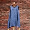 2015夏新款原创文艺棉麻连衣裙(两件套)松身天然亚麻皱裙